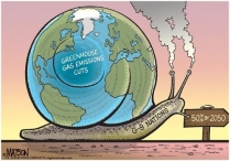 Cartoon: Greeh house gas emission...